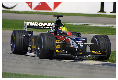 mark webber in his minardi at indianapolis usa grand prix