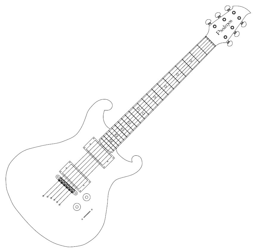 electric guitar template cake ideas and designs