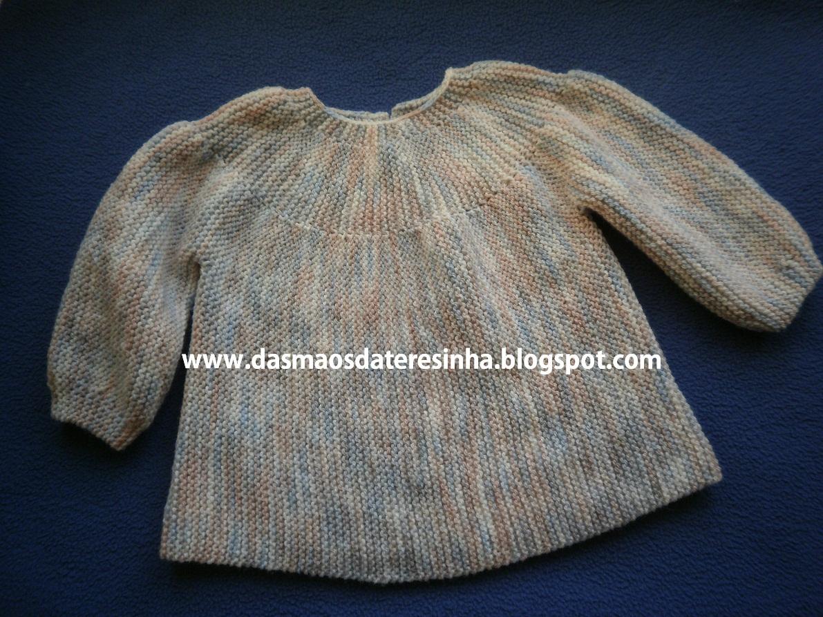 Muito Das Mãos da Teresinha: Casaco de tricô para bebé tam. 1 a 4 meses OO17