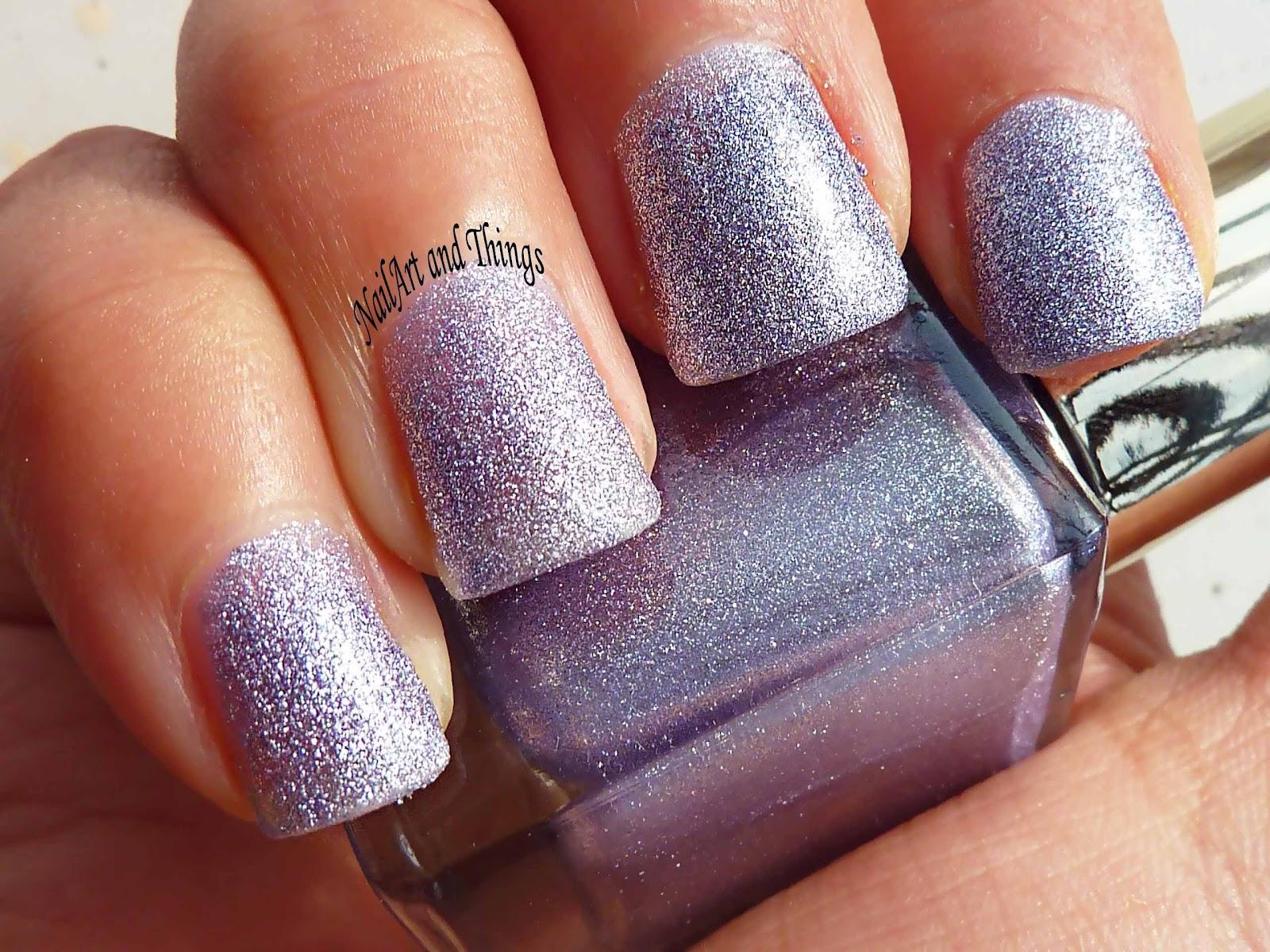 NailArt and Things: Sandy Matt Purple + Rhinestones Nail Art