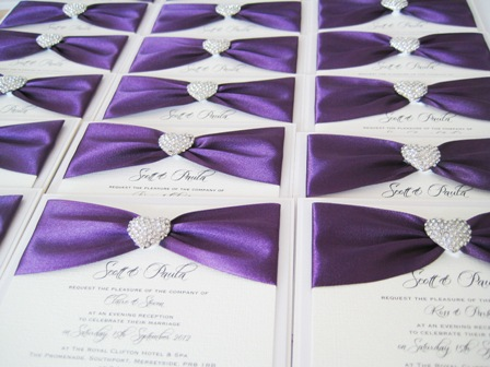 Best Purple Wedding Invitations
