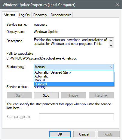 How to Disable Automatic Updates in Windows 10