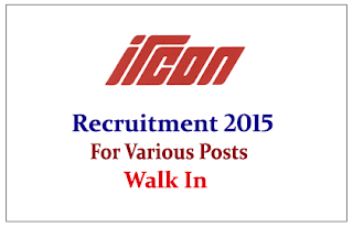 IRCON International Limited Recruitment 2015 for the posts of Managers and Various posts