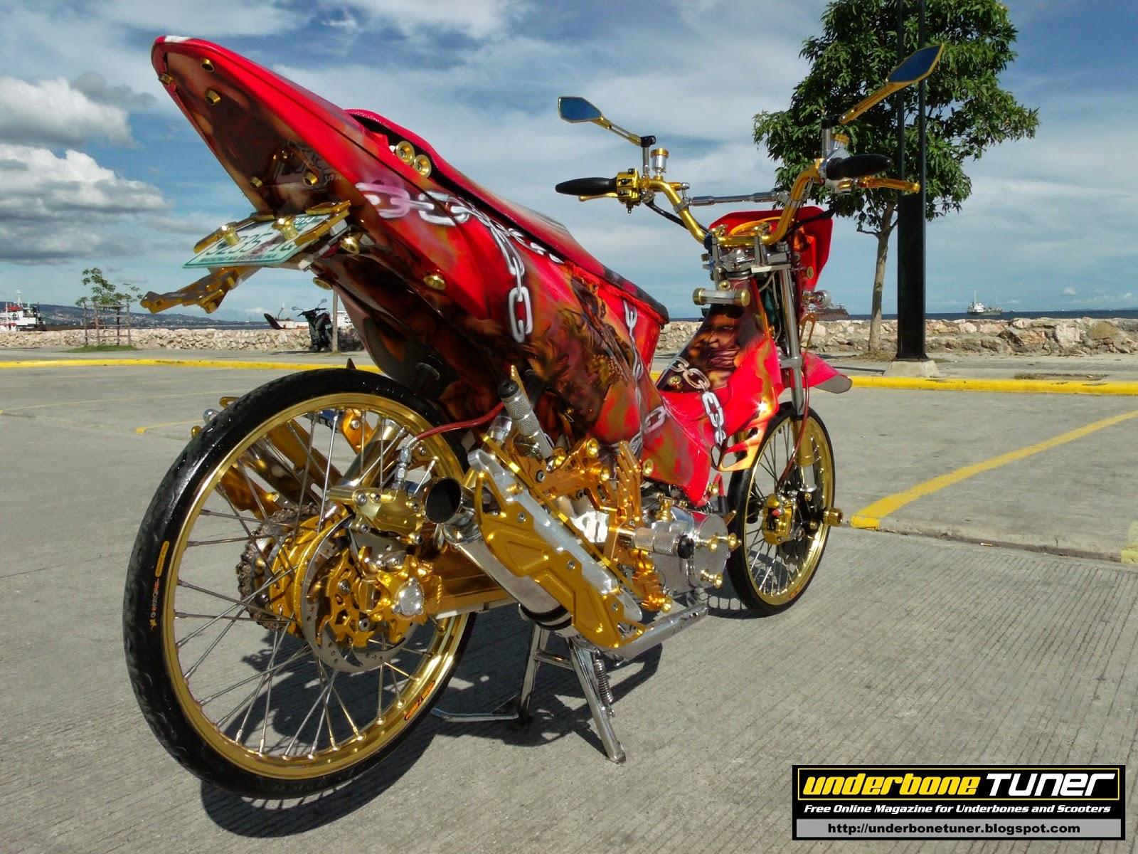 underbone tuner: Modified Honda XRM125 - Demon Hunter Theme DMC
