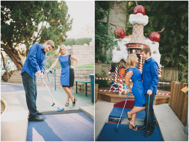 {Engagements} Erin + Matt's Mini Golf Engagement Session