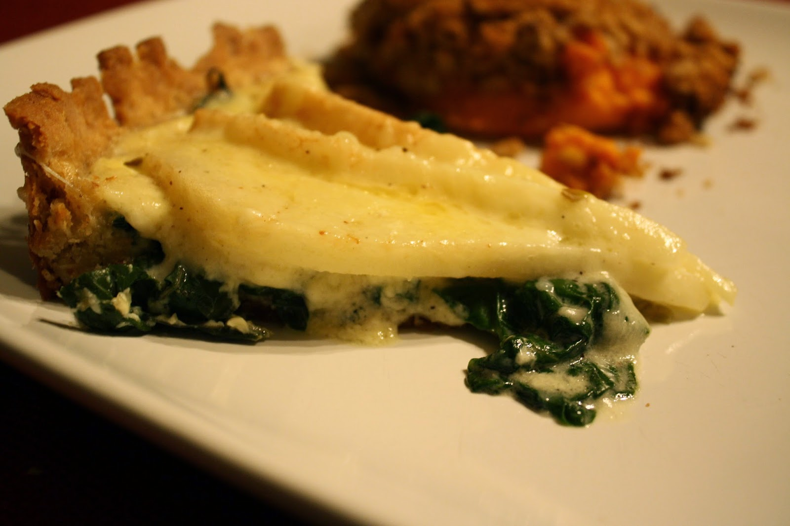 Lactose-Free Girl: Swiss Chard, Pear and Gruyère Tart