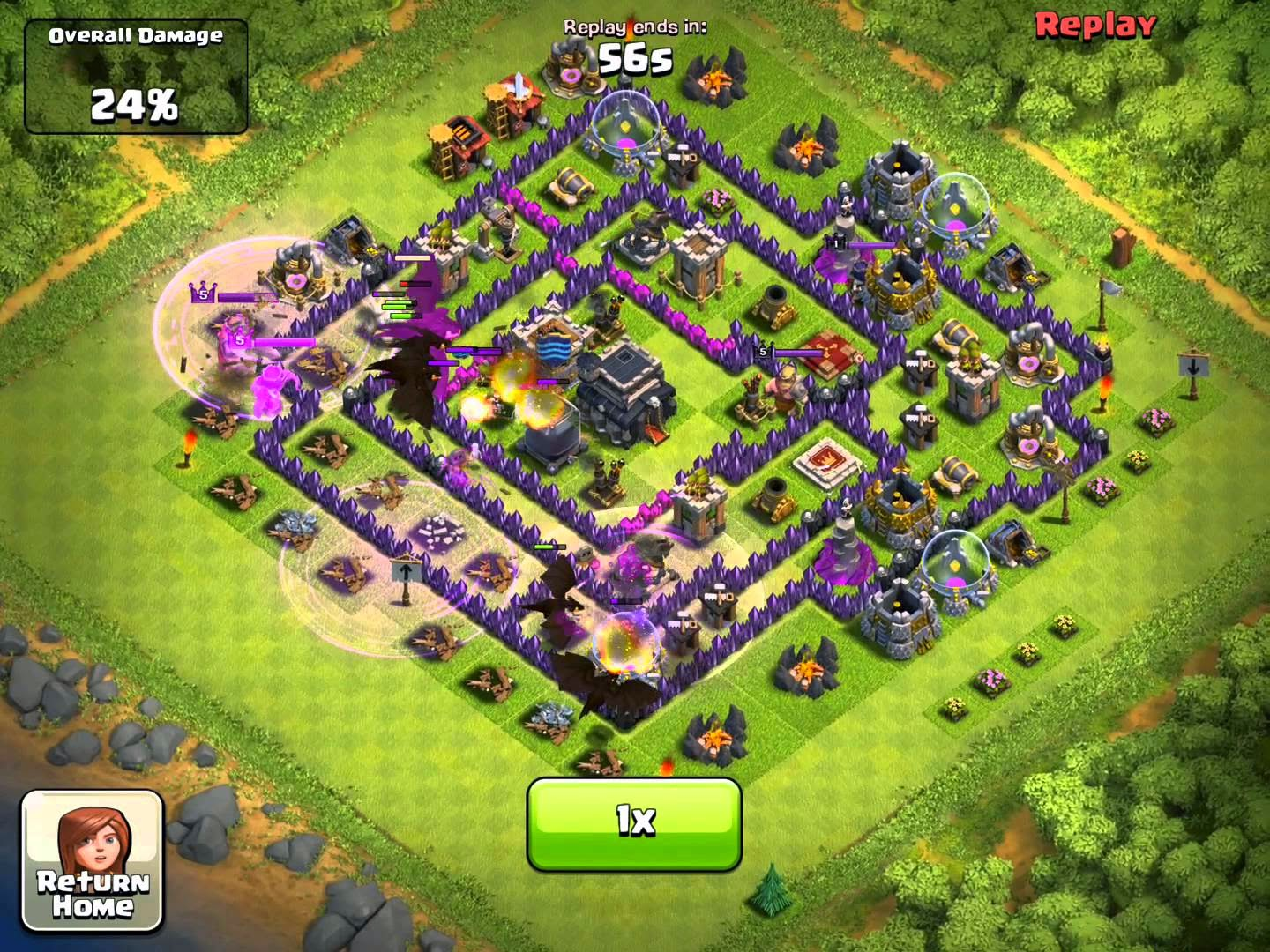 5 Jenis Fungsi Spell Factory Game C.O.C Clash of Clans