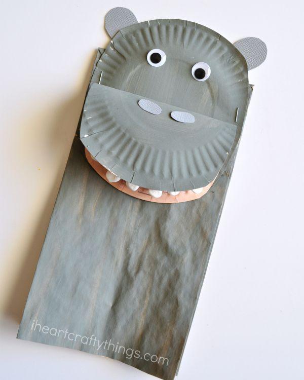 Paper Bag Hippopotamus Kids Craft & Paper Bag Hippopotamus Kids Craft | I Heart Crafty Things