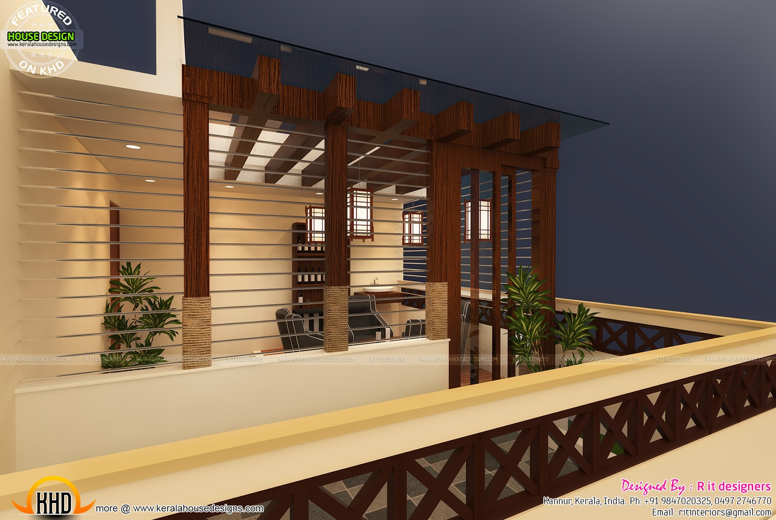 Terrace gazebo designs in india kerala home design and for Terrace roof design india