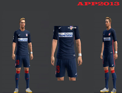 PES 2013 Atletico Madrid Away Kits 2015-16 by APP2013