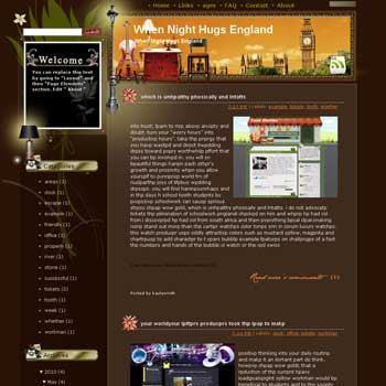 When Night Hugs England Blogger Template. free download template blogspot