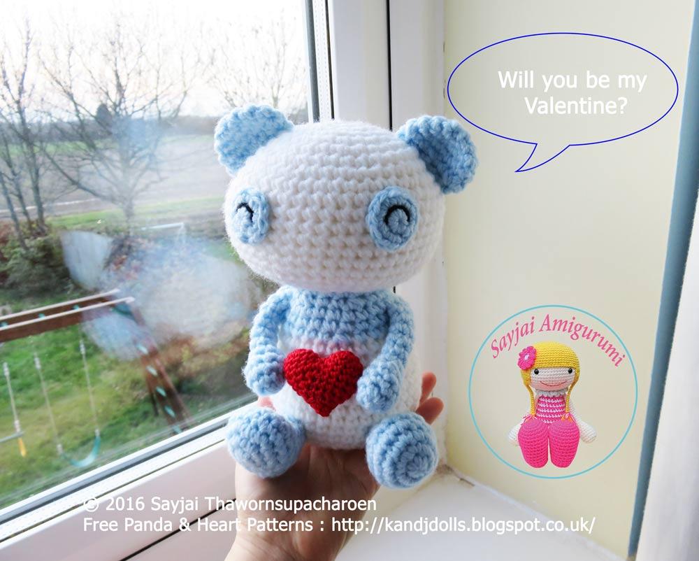 Valentine Panda - Sayjai Amigurumi Crochet Patterns ~ K ...
