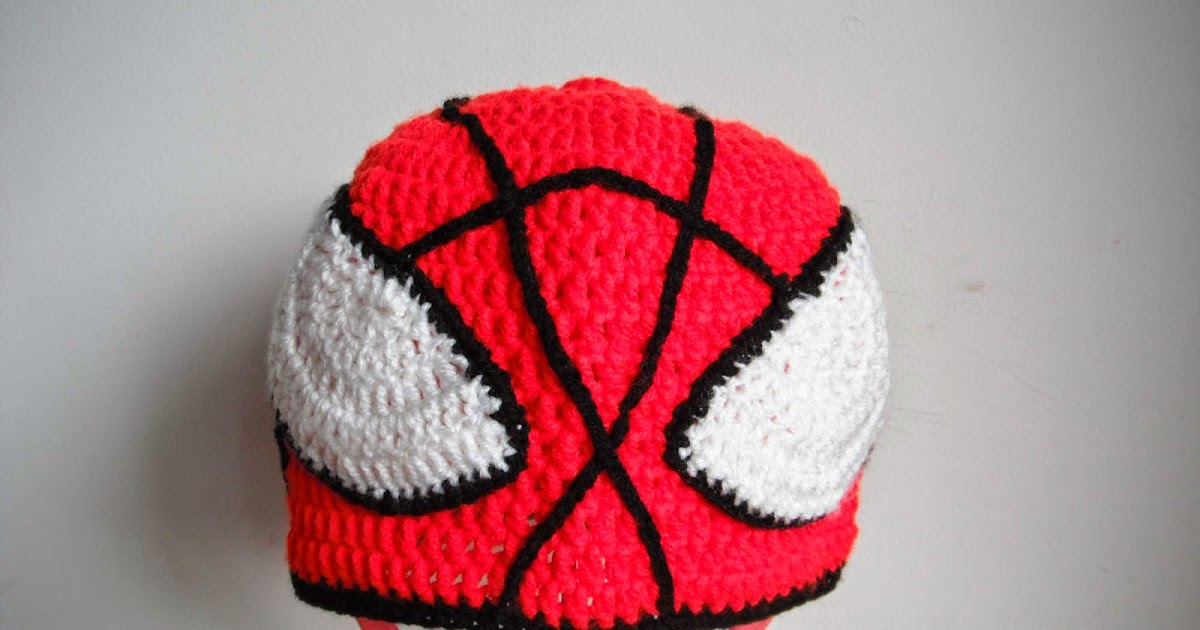 ... to crochet spider man hat all sizes by marifu6a free pattern tutorial