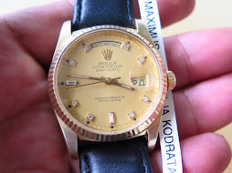 ROLEX OYSTER PERPETUAL DAY DATE PRESIDENT GOLD DIAL DIAMOND INDEX - ALL GOLD-ROLEX 18038 GOLD DIAL