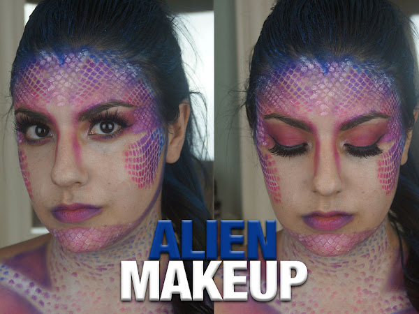 Alien Halloween Makeup | BoobyBall in Support of Breast Cancer Awareness