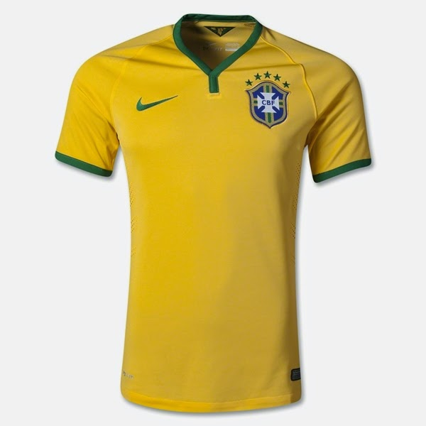 Jersey Negara Brazil - Piala Dunia 2014