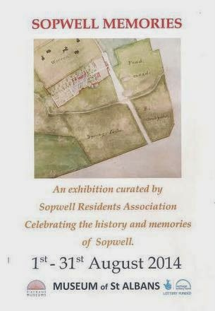 Sopwell Memories exhibition poster August 2014