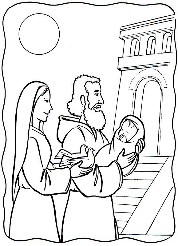Compartiendo por amor: Dibujos Presentación Jesús en el Templo