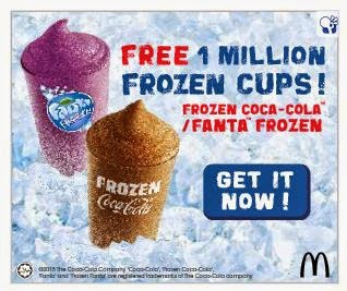 Percuma 1 Juta Cawan Frozen Coca-Cola / Fanta Frozen Di McDonald's