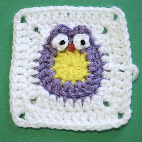 Just Crafty Enough – Owl Blanket- Granny Square
