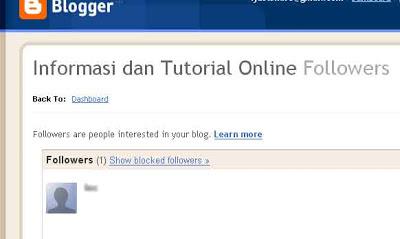 tutorial lengkap untuk mengedit follower di blog