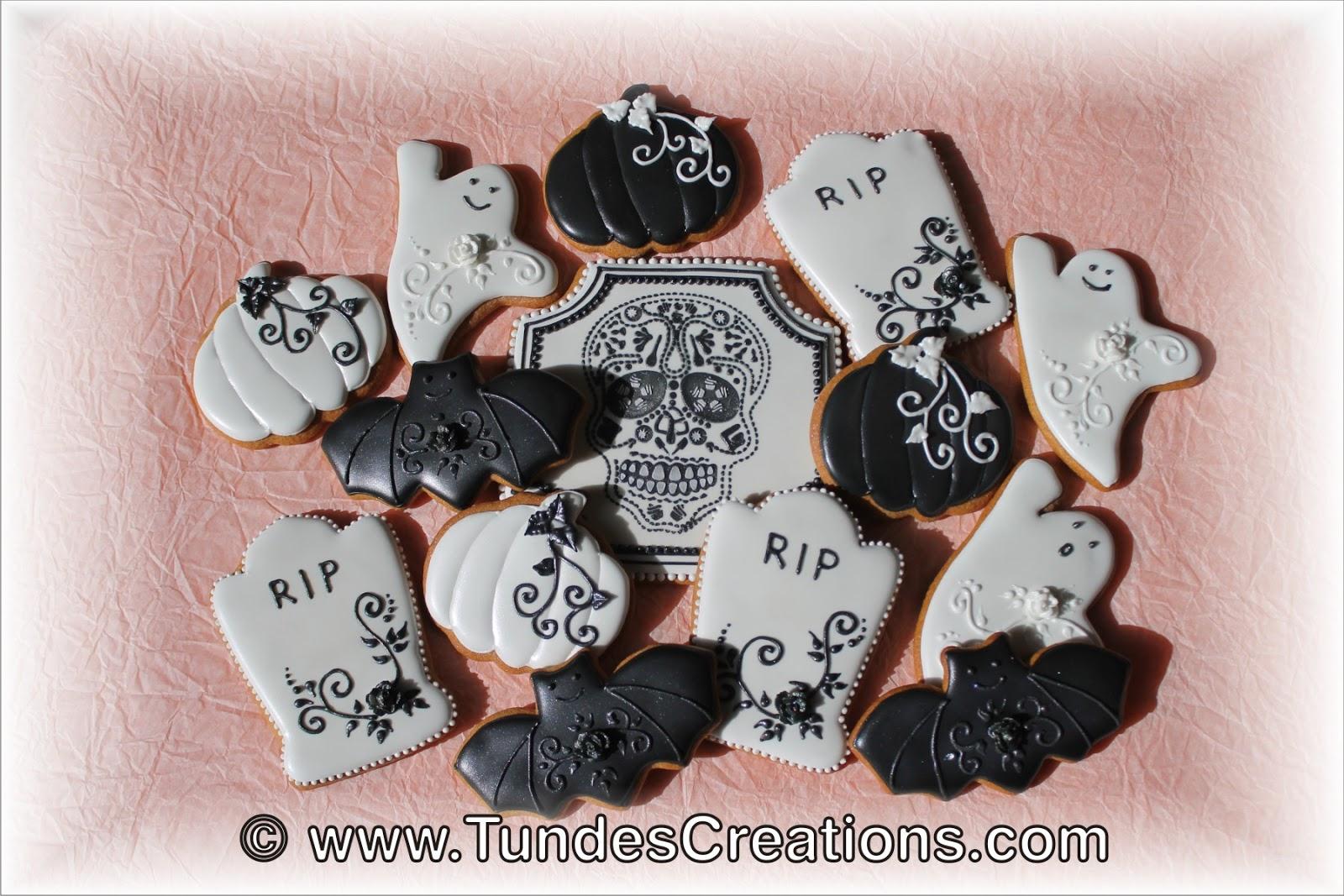 the gingerbread artist: elegant halloween cookies