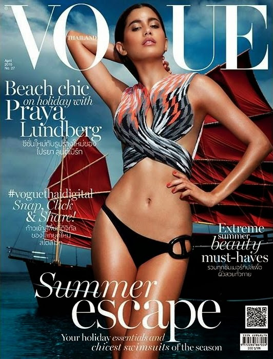 Actress, Model @ Praya Lundberg - Vogue Thailand April 2015