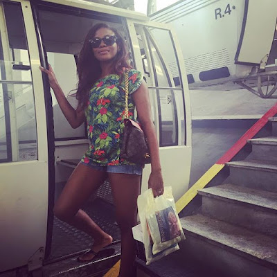 Let's show you how Dolapo Oni and hubby, Sijuwade Adegbite are spending their honeymoon (photos)
