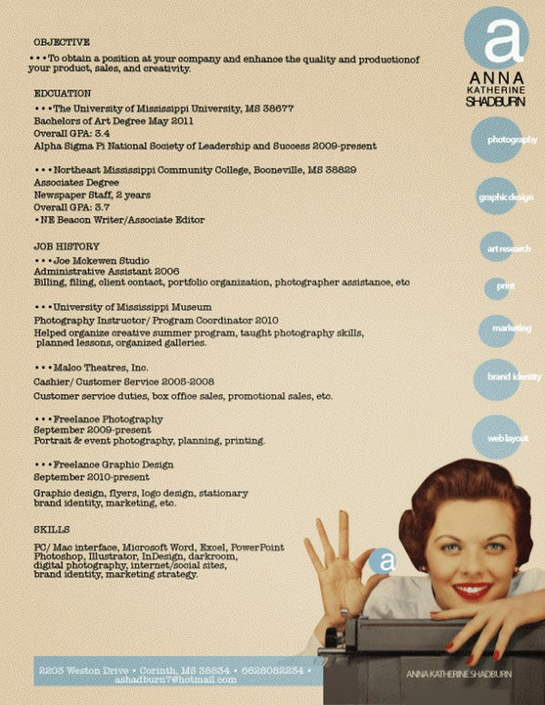 The Best Resumes By Graphic Designers
