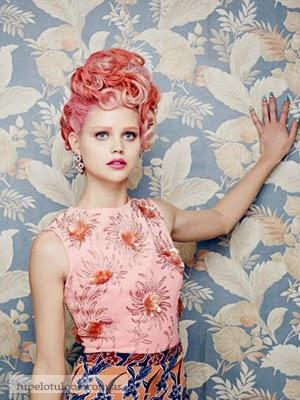 color de pelo 2014 fantasia peinados vintage