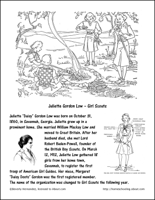 girl scouts law coloring pages - photo#17