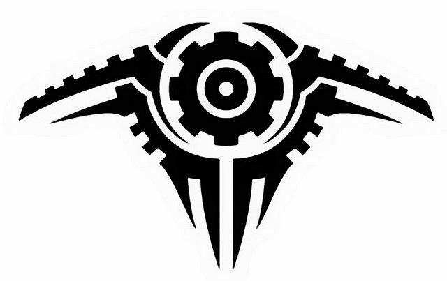 Gear biomechanical (steampunk) tattoo stencil