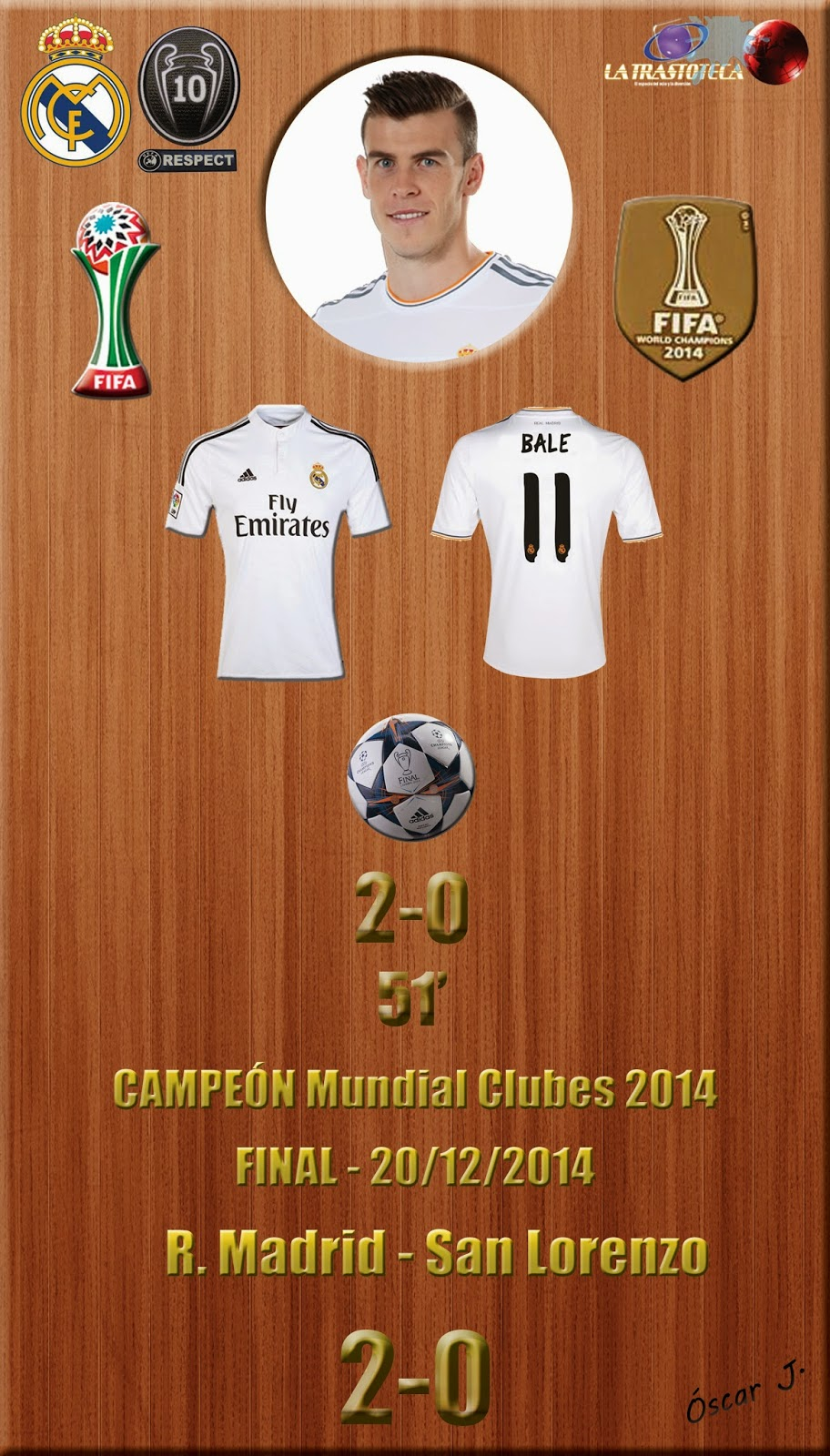 Real madrid campe n del mundo real madrid 2 0 san for Correo real madrid