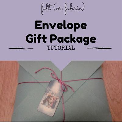 envelope gift package tutorial