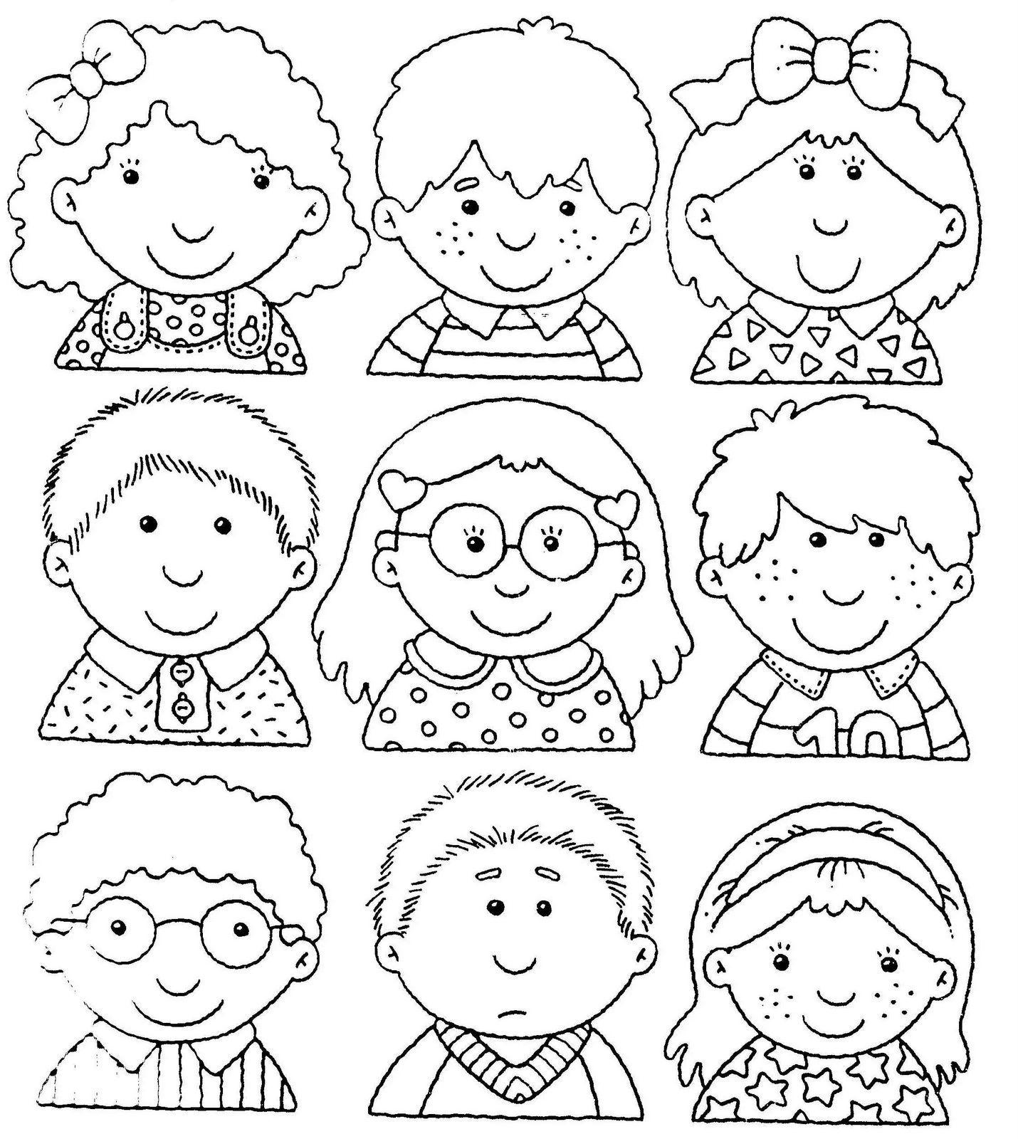 Caritas Para Colorear. Imagenes De Caritas Para Colorear Y Emociones ...