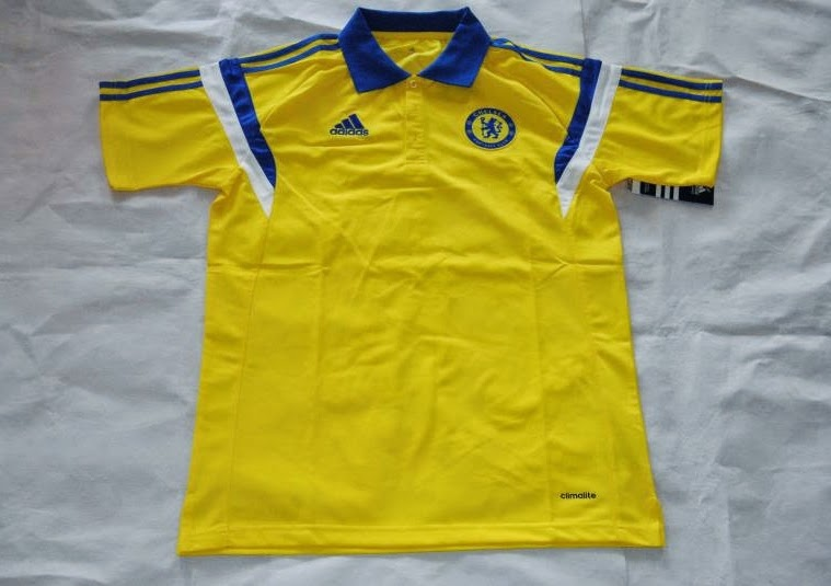 Chelsea 14-15 Yellow Polo Soccer T-Shirt Thailand