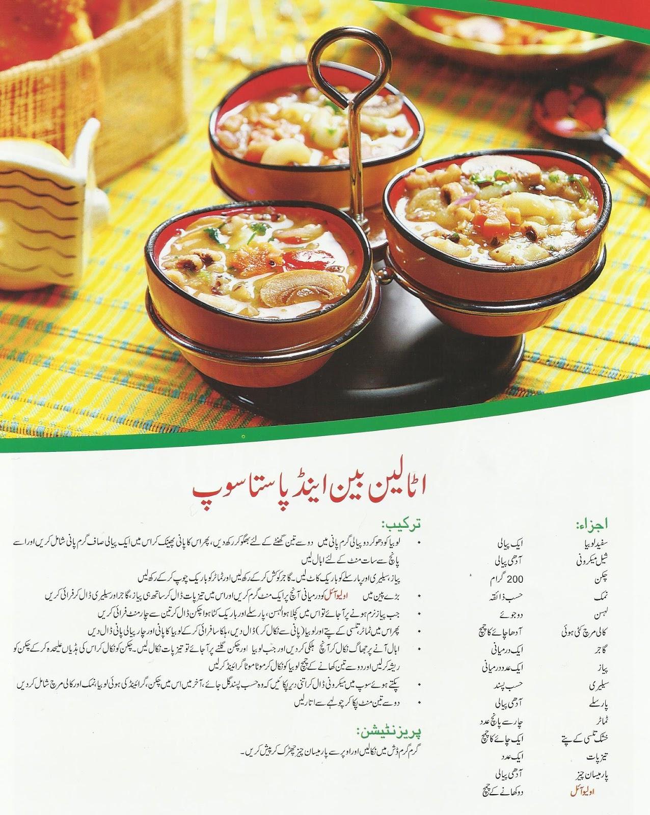 Italian Pasta Recipes In Urdu