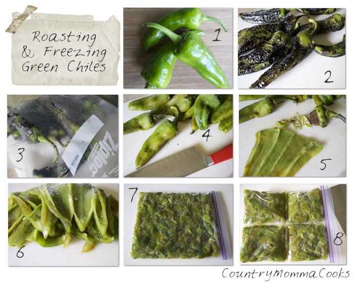 Roasting and Freezing Green Chiles