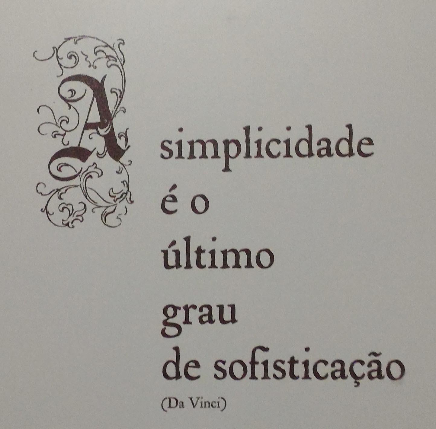 A meta é a simplicidade
