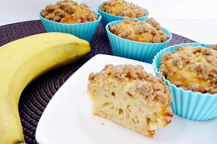 Muffins mit Bananen und Zimt-Streuseln