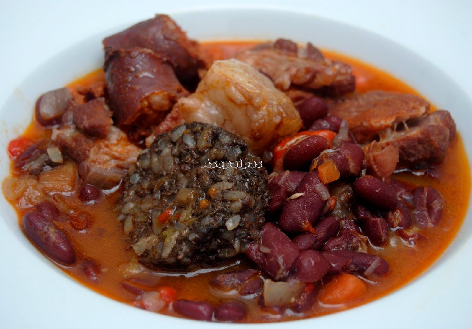 Alubias rojas con costillas adobadas receta asopaipas recetas de cocina casera - Alubias rojas con costilla ...