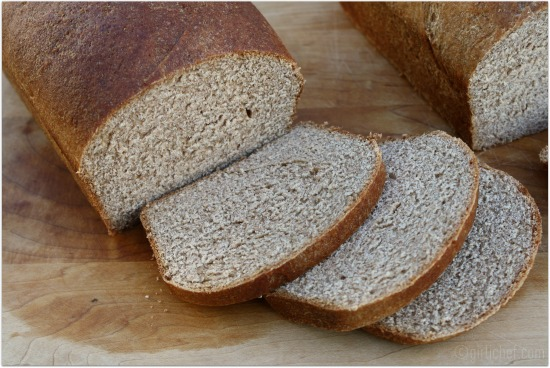 <b>100% Whole Wheat Bread</b> + Shirley J Dough Enhancer