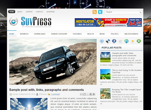 SuvPress Blogger Theme