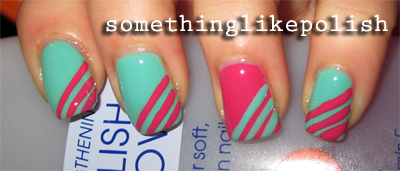 rimmel misty jade max factor disco pink stripes glamour nail art