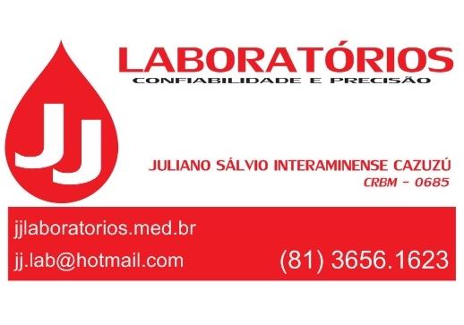 JJ LABORATÓRIOS - OROBÓ/PE