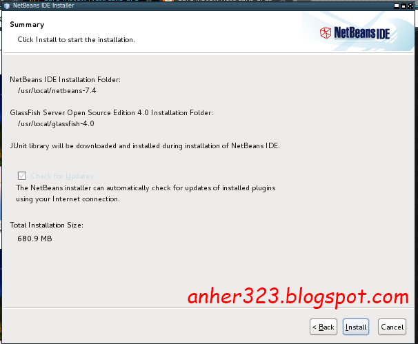 NetBeans IDE Instalation Folder