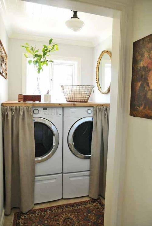 Design dilema c mo ocultar disimular una lavadora for Ocultar lavadora