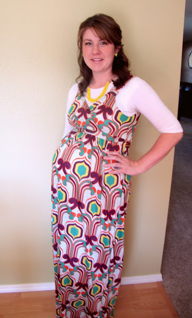 $4.00 Maternity Maxi Dress and Necklace