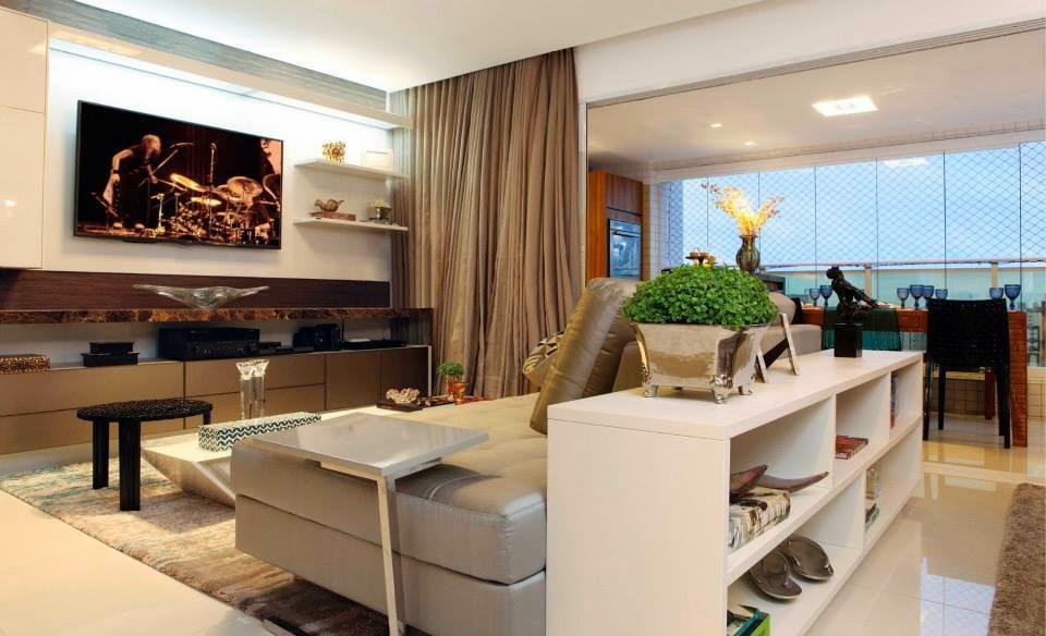Construindo minha casa clean salas de estar e de jantar for Sala de estar gourmet