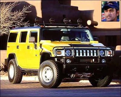 M S Dhoni – H2 Hummer